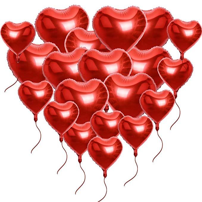 Globos con forma de corazón