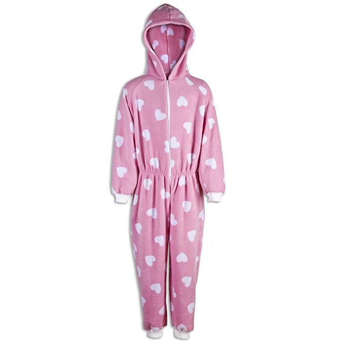 pijama niña corazones