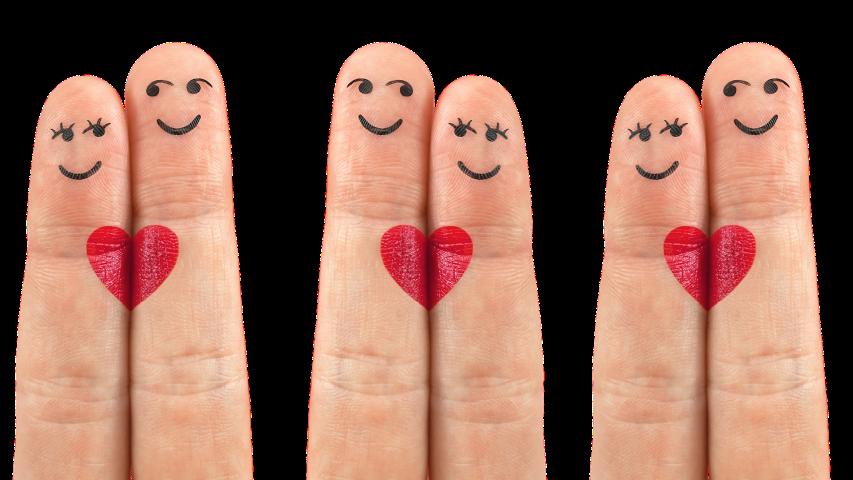 Dedos con corazón